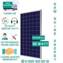 80 Watt Polikristal Güneş Paneli