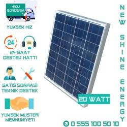20 Watt Güneş Paneli Polikristal