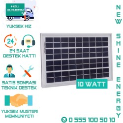Lexron 10 Watt Polikristal Solar Panel